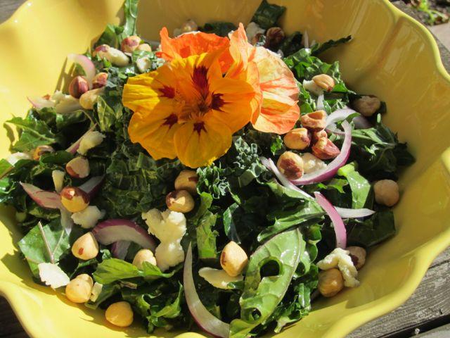 when life gives you kale...make salads, pesto, chips, stir frys!